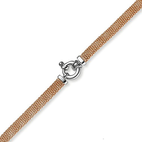 Les bracelets framboise bracelet plat 6 mm en véritable or 585 or - 21 cm