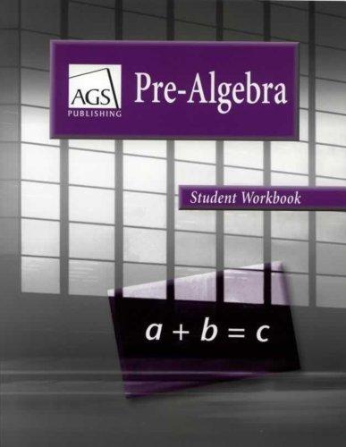 PRE-ALGEBRA STUDENT WORKBOOK
