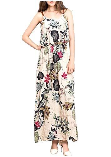 Vestido Fashional Chyedas Mujeres La Que Las Maxi Red Playa Rose De Hem Largo Imprime Sexybaby SBpqdT