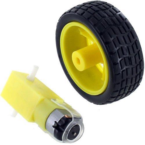 【送料無料キャンペーン?】 Geared B01MRLGAYD DC Motor Set and DC Toy Car Wheel Set B01MRLGAYD, 富岡町:58fdbb2b --- a0267596.xsph.ru