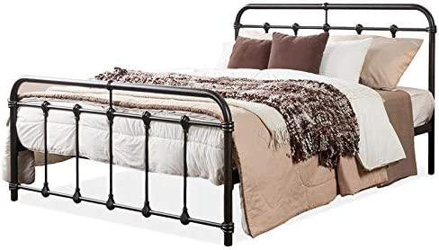 Wholesale Interiors Mandy Shabby Iron Metal Platform Bed