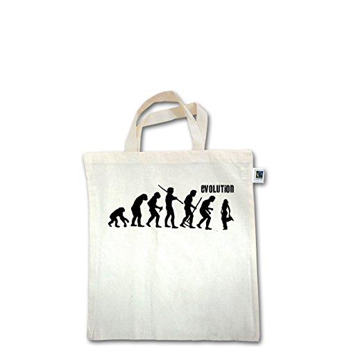 Evolution - Hip Hop Evolution - Unisize - Natural - XT500 - Fairtrade Henkeltasche / Jutebeutel mit kurzen Henkeln aus Bio-Baumwolle
