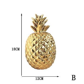 Amazon Com Zamtac Cerative Ceramic Pineapple Ornaments Hand