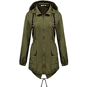68026b079 Macr&Steve Womens Lightweight Hooded Waterproof Raincoat Active Outdoor  Rain Jacket