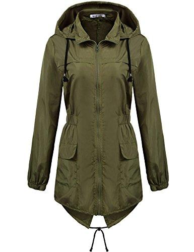 Green Womens Raincoat - 1