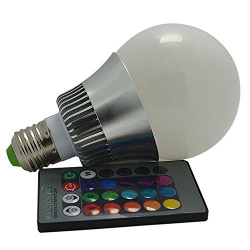 Bombilla LED E27 de 10w AGPtek con mando a distancia