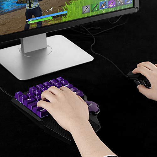 One Handed Gaming Keyboard, MAD GIGA Mechanical Red Switch