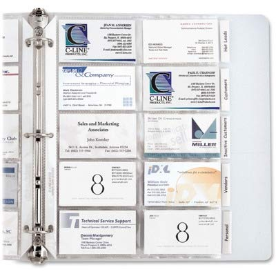 C-line Business Card Refill Pages - 3-Hole Punched