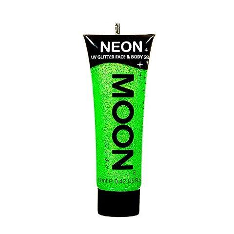 Moon Glow - Neon UV Glitter Face