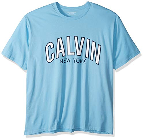 - Calvin Klein Men's Big Short Sleeve Crew Neck T-Shirt Calvin Arch Graphic, Alaskan Blue Outline, 3X-Large Tall