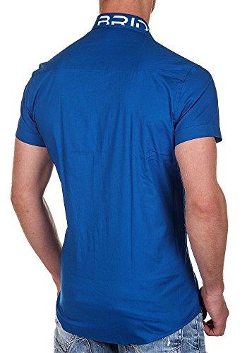 Redbridge by Cipo & Baxx Hemd kurzarm mit Stick saxe blue-dunkelblau XXL