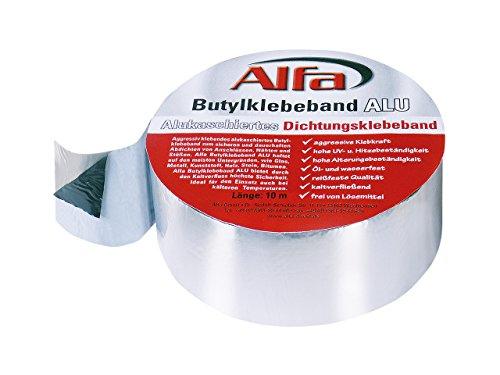 Alfa Butylband ALU 100 mm x 10 m alukaschiertes Butyl-klebeband zum Abdichten, Wohnwagen Reparaturband
