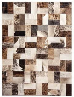 Premiumcowhide New Cowhide Rug Leather. Animal Skin Patchwork Area Carpet 8 X 10
