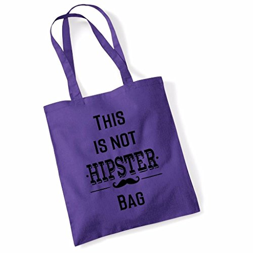 This Is Not A Hipster Bag Funny Mothers Day Birthday Beech Tote Bag - Orange Purple