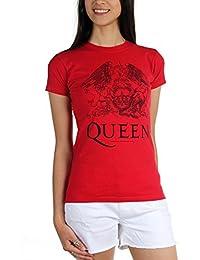 Womens Queen Logo On Red T-Shirt