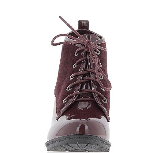 ChaussMoi Borgogna stivali con tacco 9cm bi materiale