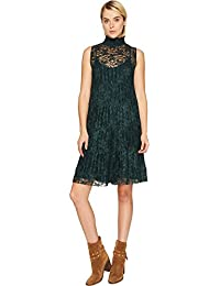 Womens Lace and Pleats Dress