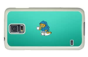 Hipster personalize Samsung Galaxy S5 Case garfield monday PC White for Samsung S5