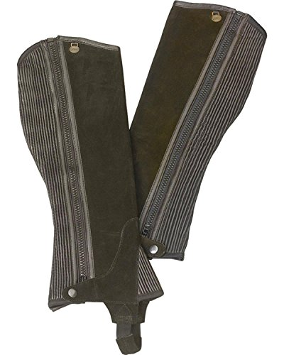 Ovation Boys' Ribbed Suede Half Chaps Brown 12-14 US ()