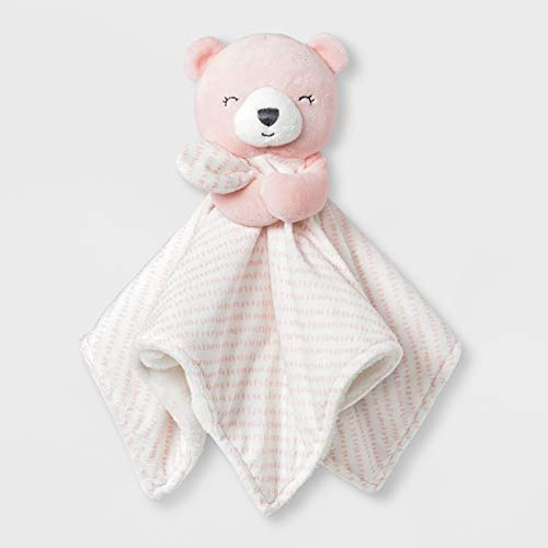 Carter's Just One You Made Baby Girls' Bear Cuddle Plush Blanky - Pink/White