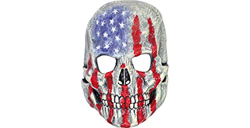 (Patriotic Skull Mask Halloween Costume Accessory, 9