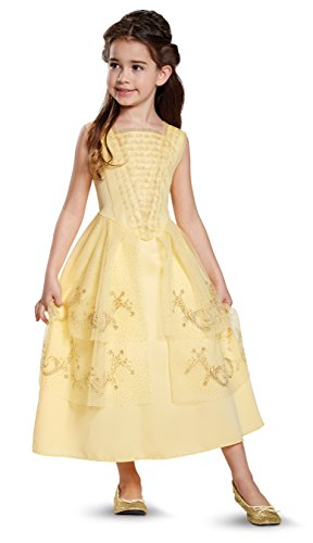 Disney Princess Girls Belle Classic Costumes (Disney Belle Ball Gown Classic Movie Costume, Yellow, XS (3T-4T))