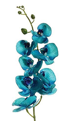 - Oasis Malibu Blue Aqua Orchids Silk Wedding Decoration Flowers Artificial Arrangement Bouquet Centerpieces Bridal