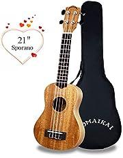 POMAIKAI Soprano Ukulele for Beginner 21 Inch Child Ukulele Mahogany Hawaiian Small Guitar Ukelele Instrument with Gig Bag