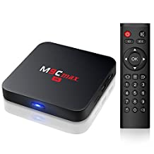 Bqeel M9C Max Android 6.0 Box Marshmallow Amlogic S905X Chipset (2G DDR3/16G eMMC) 4K Android TV Box Unlocked 2.4G WIFI Smart Media Player (Pure Version)