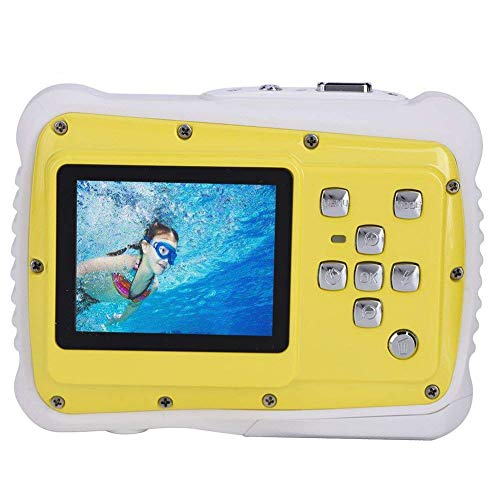 Video Camera for Kids Digital Underwater Camera Recorder,Top Max 3M Waterproof Sport Action Camera Camcorder Cam W/ 2.0'' LCD Screen,4X Digital Zoom,5MP CMOS for Sports Swimming Diving