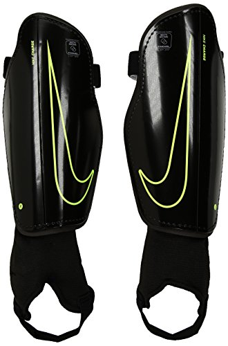 - Nike Youth Charge 2.0 Soccer Shin Guard Black/Volt Size Large