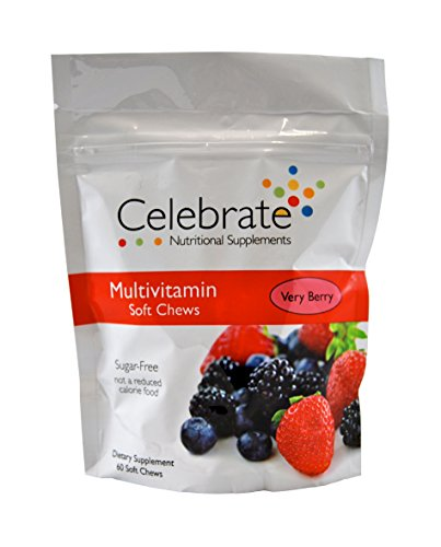 (Celebrate Multivitamin Soft Chews (Very Berry) 60 count)