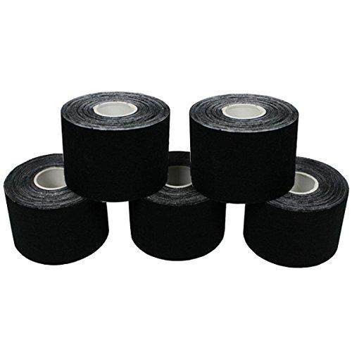 5 Rollen Original Kinesiologie-Tape 5 m x 5,0 cm Kinesio 8 Farben, Farbe:schwarz
