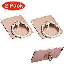 Fits Apple ZTE Samsung Universal Smart Cell Phone Rose Gold Adhesive Ring Stand. Fits the Following Models