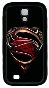 custom samsung galaxy s4 i9500 case case, Superman logo black background diy samsung galaxy s4 i9500 case ,TPU Material,Drop Protection,Shock Absorbent,Customize your own cell phone case pattern