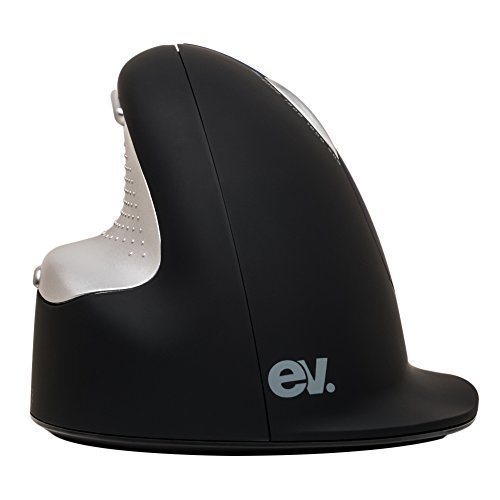 Ev Rechareable Human Ergonomic Vertical Wireless Mouse High Speed Laser Transmission with 4 level (500,1000,1800,2500DPI)-Small Size
