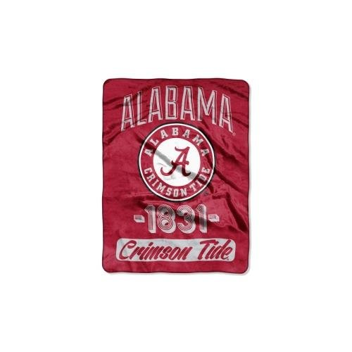 The Northwest Company Officially Licensed NCAA Alabama Crimson Tide Varsity Micro Raschel Throw Blanket, 46
