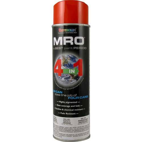 MRO Industrial Enamel 15 to 17 Oz. Safety Orange 6 Cans/Case