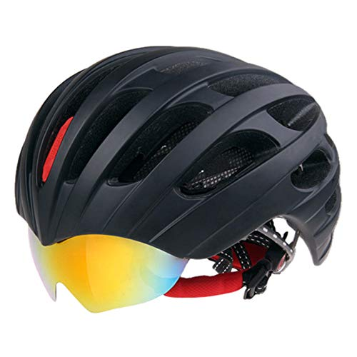 BTAWM Helmets Rennradhelm Brillenabdeckung Fahrradhelm 32 Vents Fahrradhelme Brille 3 Objektiv Stil 2