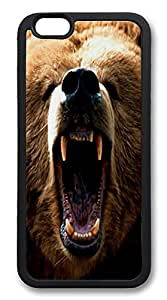 ACESR Grizzly Bear Newest iPhone 6 Case TPU Back Cover Case for Apple iPhone 6 4.7inch Black