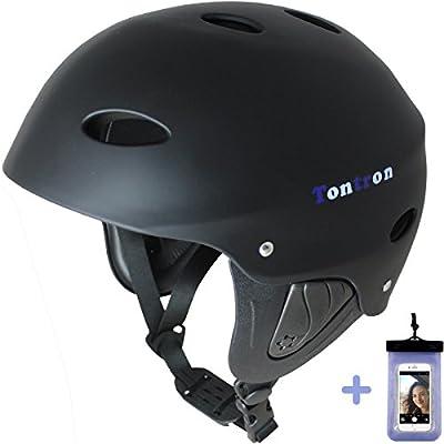 Tontron Comfy Practical Water Helmet with Waterproof Phone Case