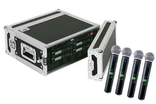 Shure SLX24/Beta58 4-Pack Wireless Handheld Microphone System