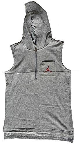 Jordan Boys Sonic Quarter Zip Vest Heather Grey L by Jordan