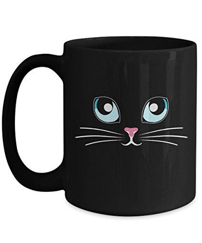 Cute Cat Mug Cool Funny Halloween Costume Unisex Top black ceramic coffee -