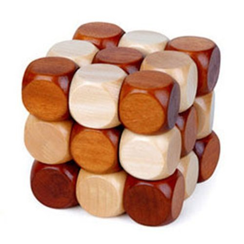 MAGIKON Snake Cube Wooden Brain Teaser Puzzle