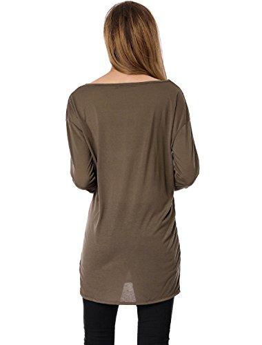 Longues Manches Allegra Lâche Shirt Marron K Stars Tunique Crâne Femmes 5F5wrEfq