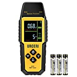URCERI EMF Meter Electromagnetic Radiation Detector Multi Field Tester Handheld Mini with Backlight Colored LCD Screen and Temperature Detection with Sound Alert and Intensity Graphs (UI-01)