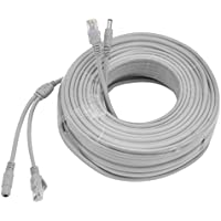uxcell 30M/98ft Ethernet Cable CAT5E RJ45 Network LAN Power Extension Cord for CCTV IP Security Camera