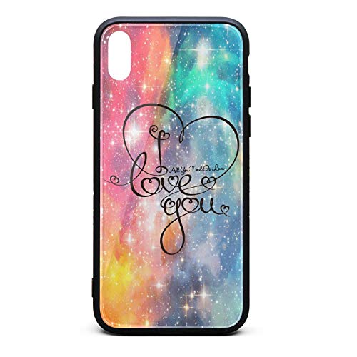 BoDu iPhone X Case iPhone Xs Case Valentines Day All You Need is Love Heart TPU Protective Shockproof for iPhoneX iPhone Xs