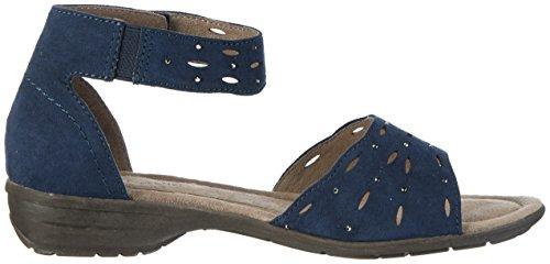 Softline 28162, Sandalias con Cuña para Mujer Azul (Navy 805)